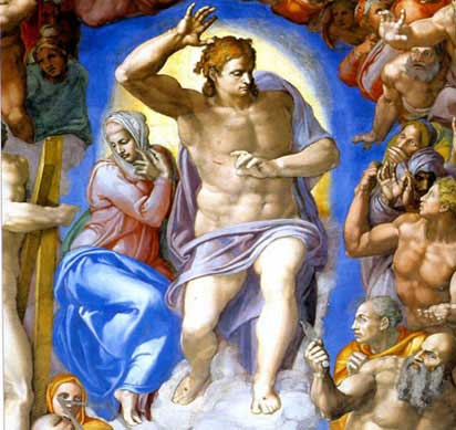 a painting analysis of the last judgement by michelangelo Painting: genesis fresco date  response to the genesis fresco michelangelo's fresco decorations on the  to new levels in his last judgment fresco.