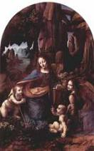 Leonardo's Virgin of the Rocks, London.