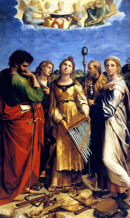 St Cecilia by Raphael.