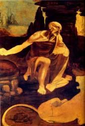 St Jerome by Leonardo da Vinci.