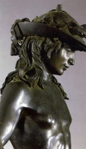 David by Donatello (detail of the head)