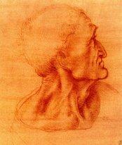 Study for Judas by Leonardo da Vinci.