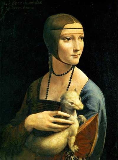 The Lady with an Ermine by Leonardo da Vinci.