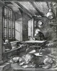 St Jerome in his cell by Durer.