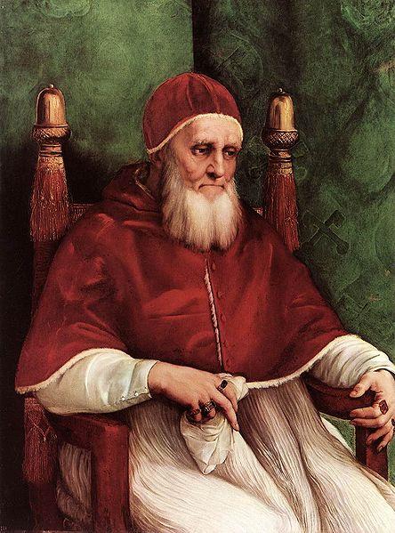 Pope Julius II by Raphael.