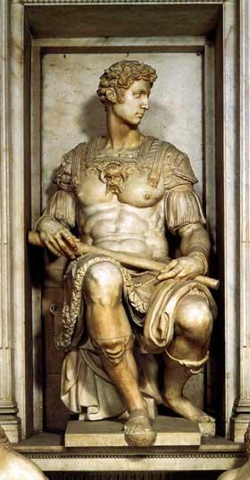 Giuliano de Medici by Michelangelo