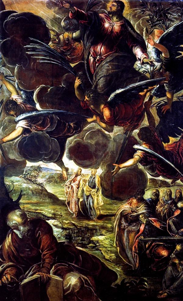 The ascension of Christ by Tintoretto.