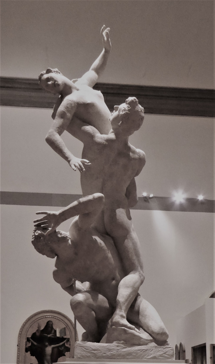 Giambologna's Rape of the Sabine Women original plaster cast, Accademia Gallery, Florence, Italy