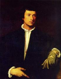 Titian's Man with a Glove.