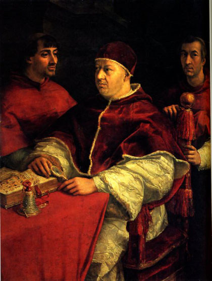 Raphael's portrait of Pope Leo X.