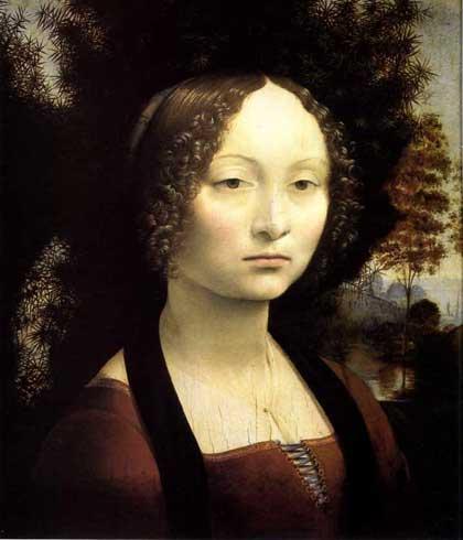 Ginevra de'Benci. by Leonardo da Vinci.