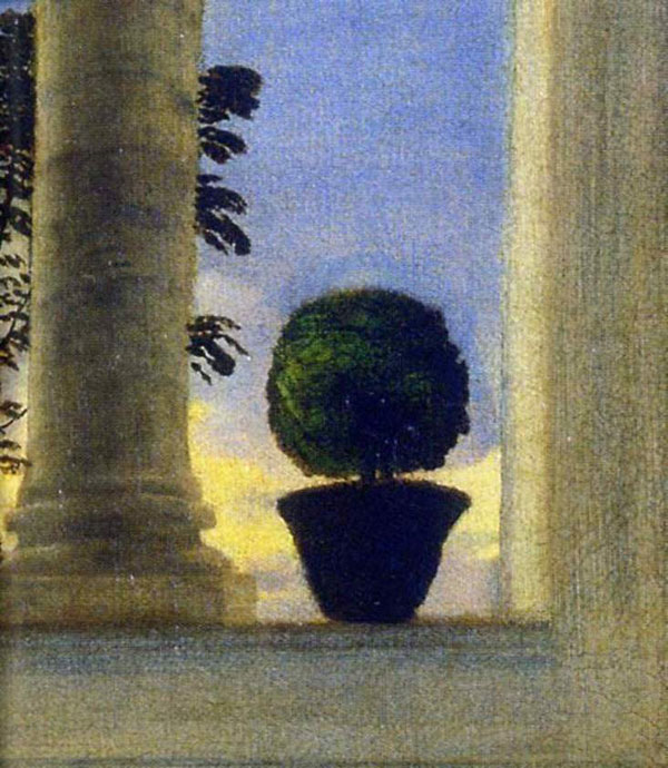 View from a window. Detail from the Venus of Urbino by Titian.