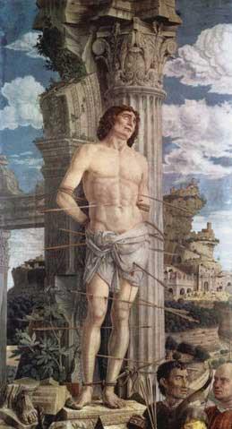 St Sebastian (Louvre) Andrea Mantegna