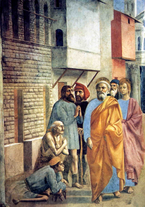 St Peter healing the sick with his shadow by Masaccio.