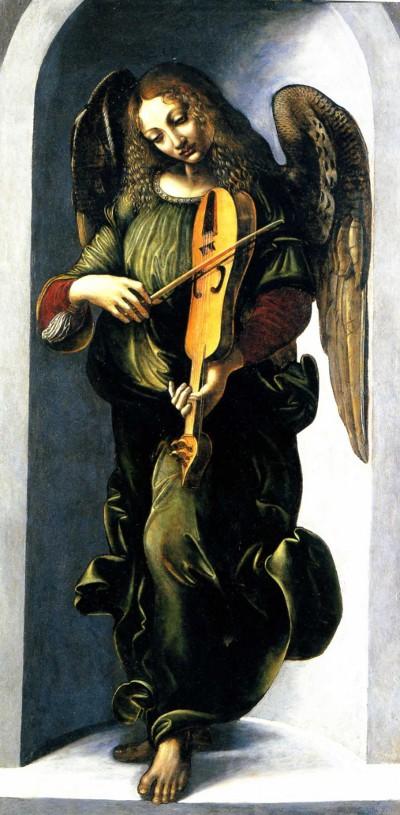 Angel playing the Violin by Ambrogio de Predis