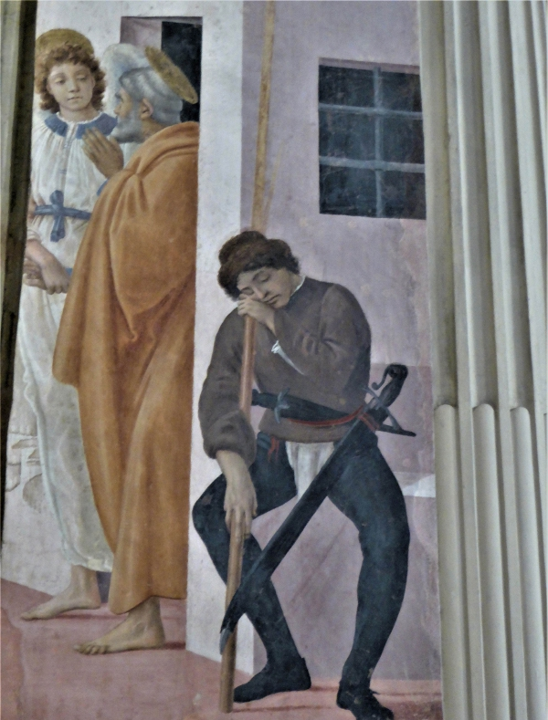 St Peter freed a fresco by Filippino Lippi, Brancacci Chapel, Florence.