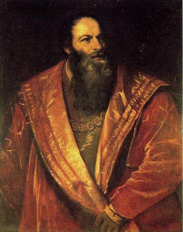 Portrait of the playwrite  Pietro Aretino