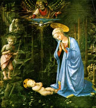 Child in a Wood by Fra Filippo Lippi