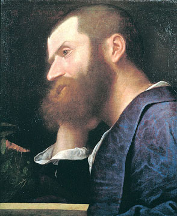 Portrait of Pietro Aretino by Titian.