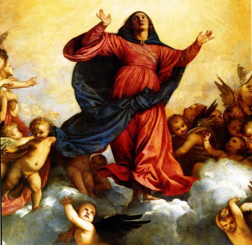 The Assumption (detail) by Titian