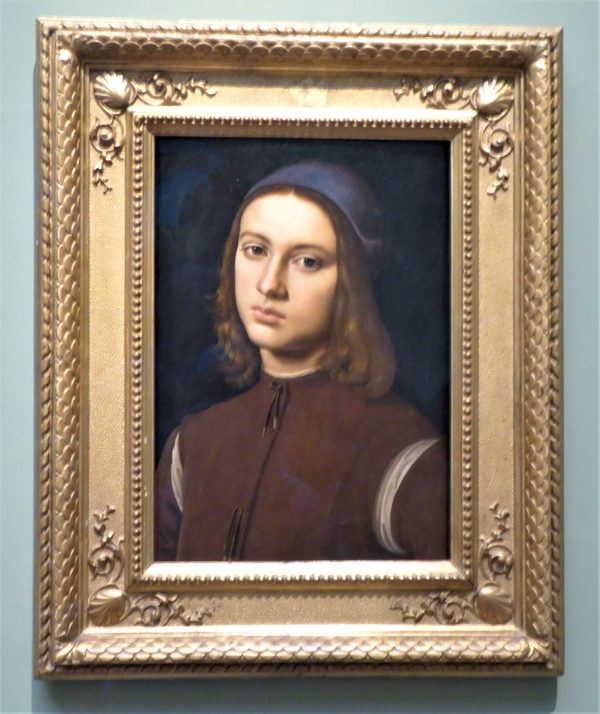 Portrait of a young man, Pietro Perugino Uffizi Gallery, Florence, Italy.