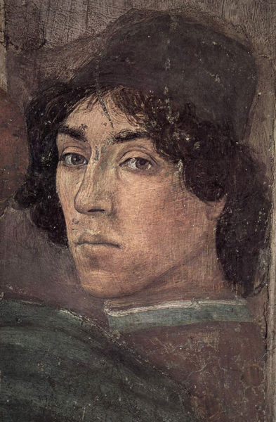 Self Portrait by Filippino Lippi a fresco from the Brancacci Chapel, Florence.
