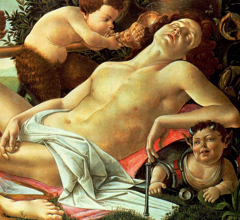 Venus and Mars (detail) Sandro Botticelli