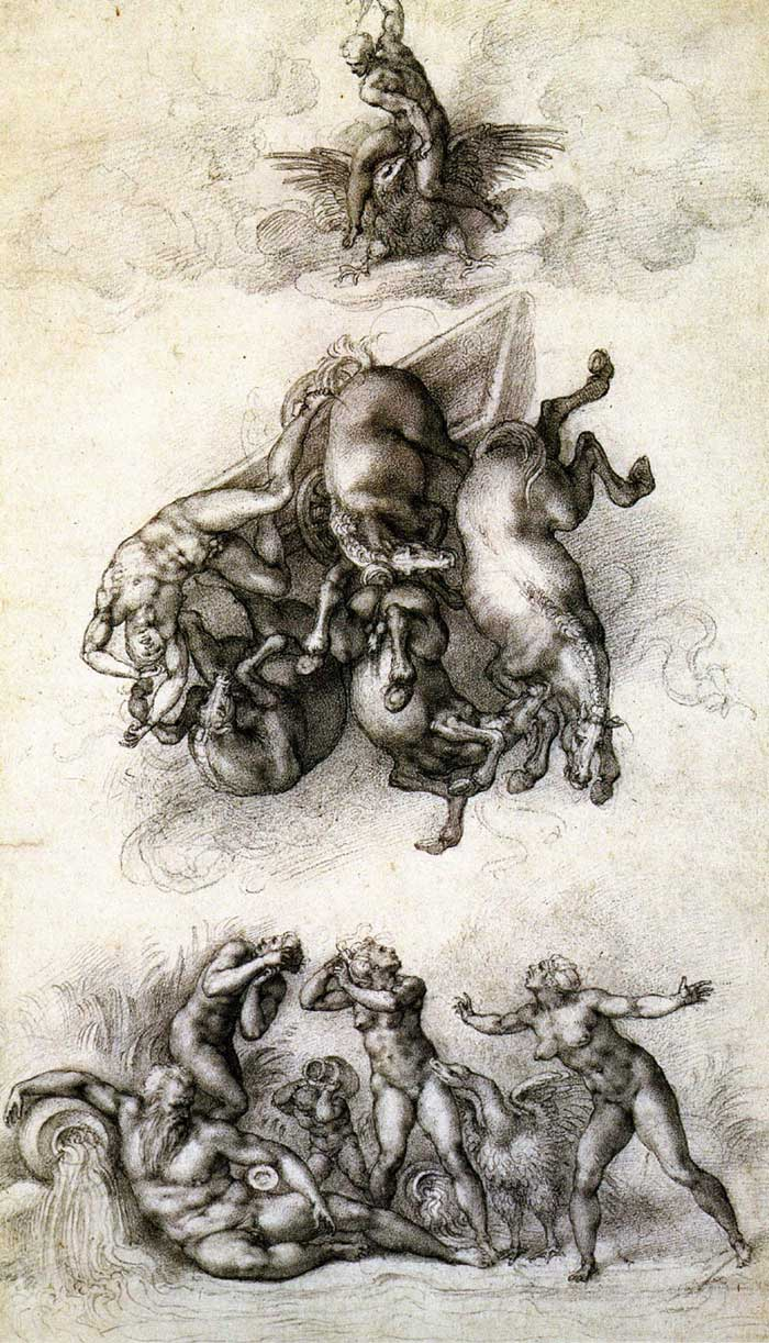 The fall of Phaethon 2, Michelangelo