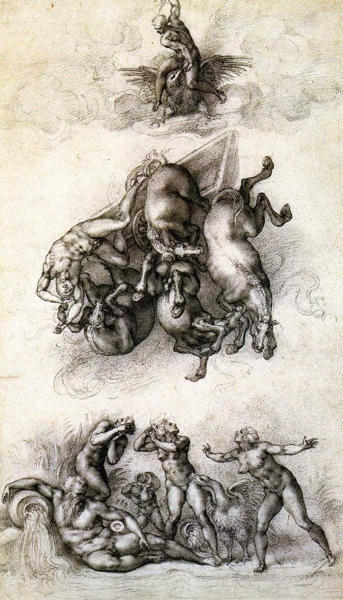 The fall of Phaethon 2, Michelangelo