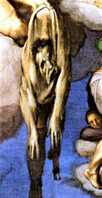 The flayed skin of St Bartholomew.