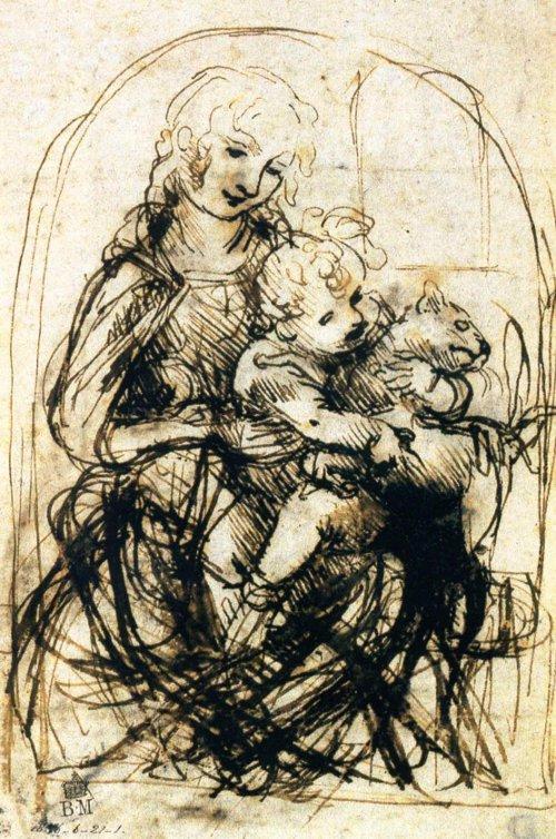 Virgin and Child with Cat, Leonardo da Vinci