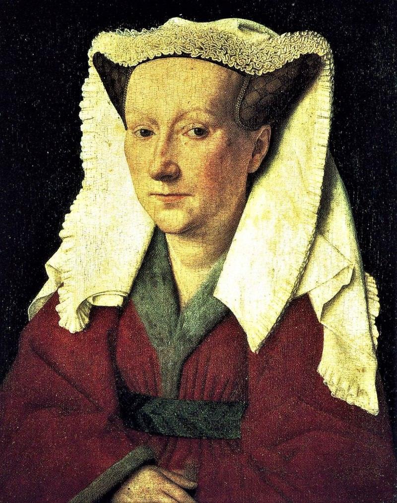 Jan van Eyck, Portrait of the artist's wife.