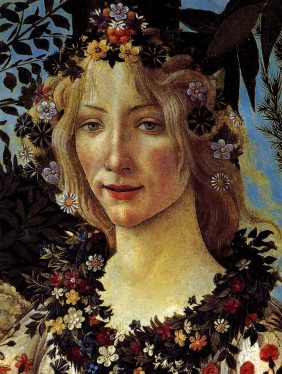 Flora Goddess of Flowers, a detail from Botticelli's Primavera.