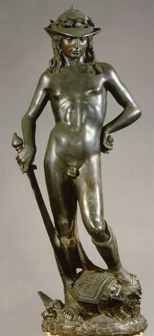 Bronze statue of David by the renaissance sculptor Donatello