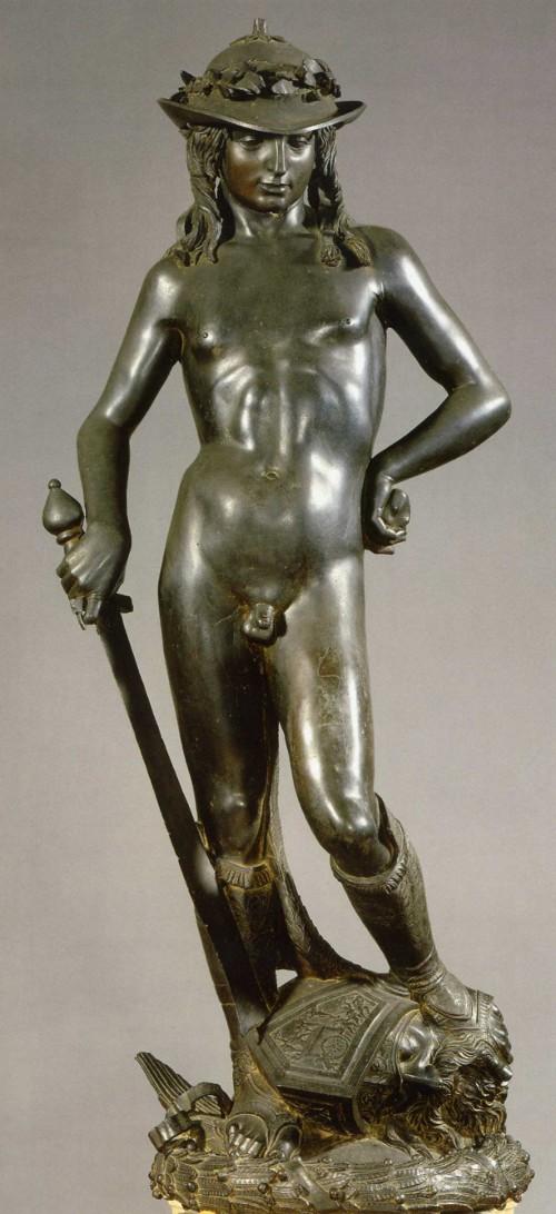 Bronze statue of David by the renaissance sculptor Donatello