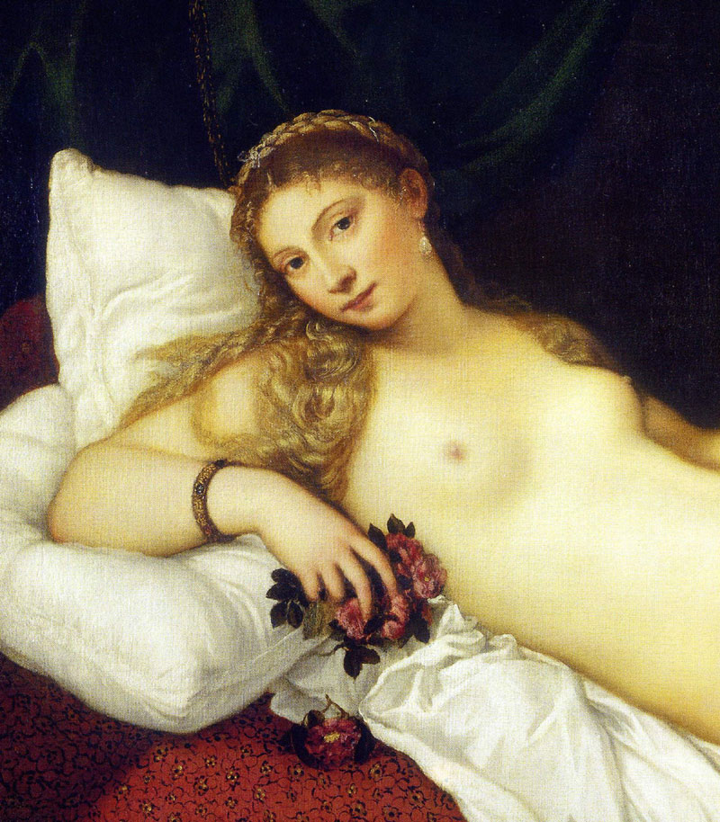 Venus of Urbino by Titian (detail)