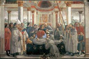 The Death of St Francis by Ghirlandaio