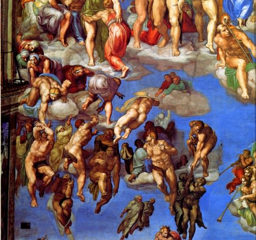 The Righteous raised into Heaven, Michelangelo