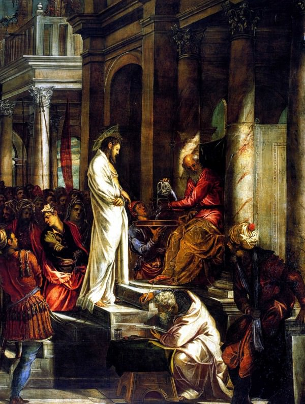 Christ before Pilate by Tintoretto.