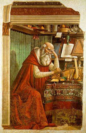 St Jerome in his Study by Domenico Ghilandaio
