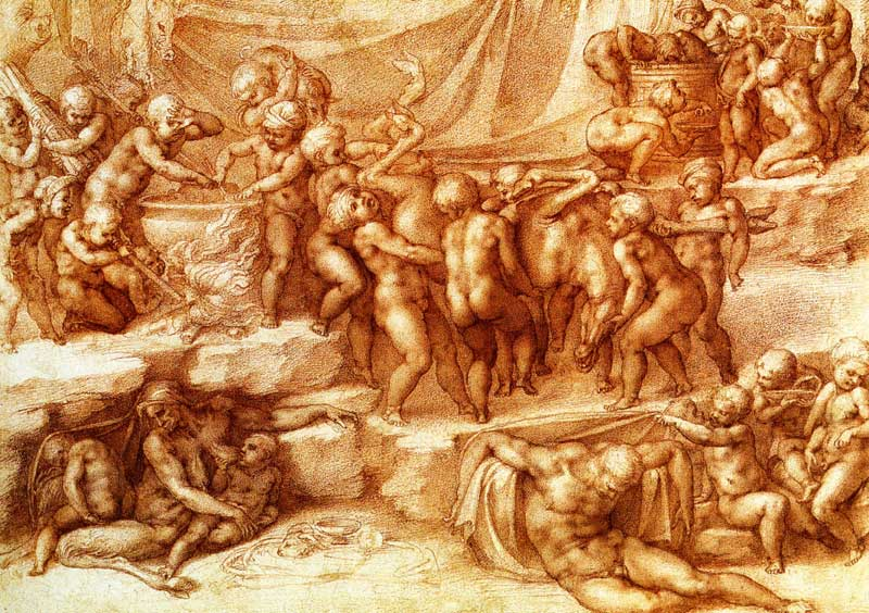 Bacchanal of Children, Michelangelo