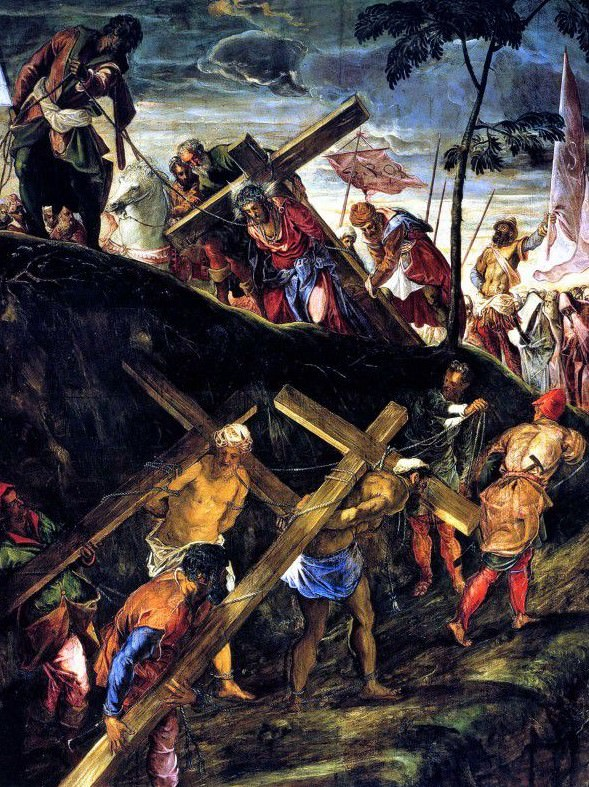 The accent to calvary by Tintoretto.