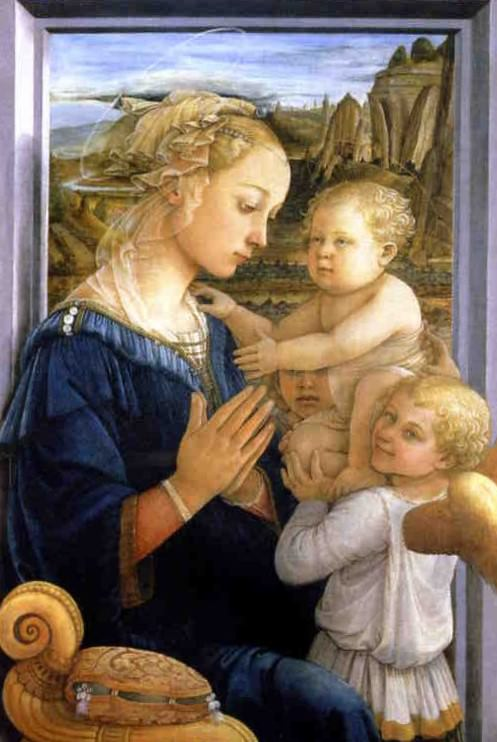 Filippo Lippi, Madonna and Child with Two Angels.