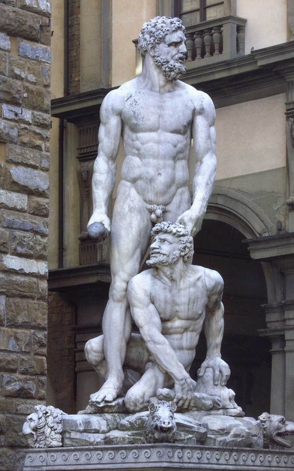 Hercules and Cacus by Baccio Bandinelli, Florence, Italy.