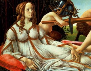 Botticelli's Venus and Mars (detail)