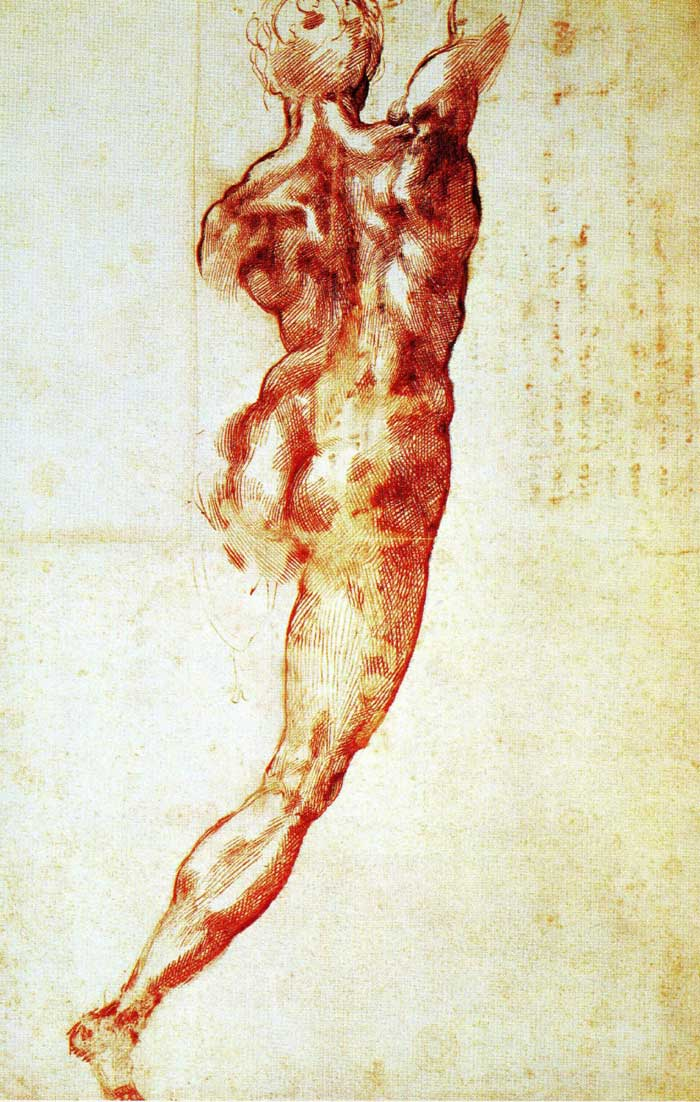 Nude study for the Battle of Cascina by Michelangelo