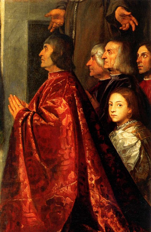 Pesaro Madonna (detail) Titian