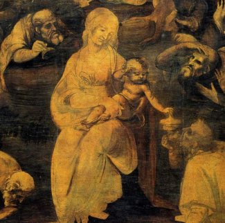 Mary and the infant Jesus. Leonardo da Vinci