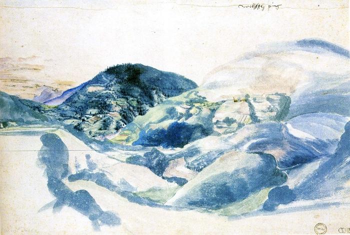 Durer's depiction of a cold, crisp landscape.