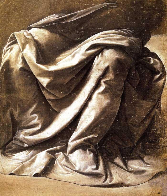 Drapery study, Leonardo da Vinci.